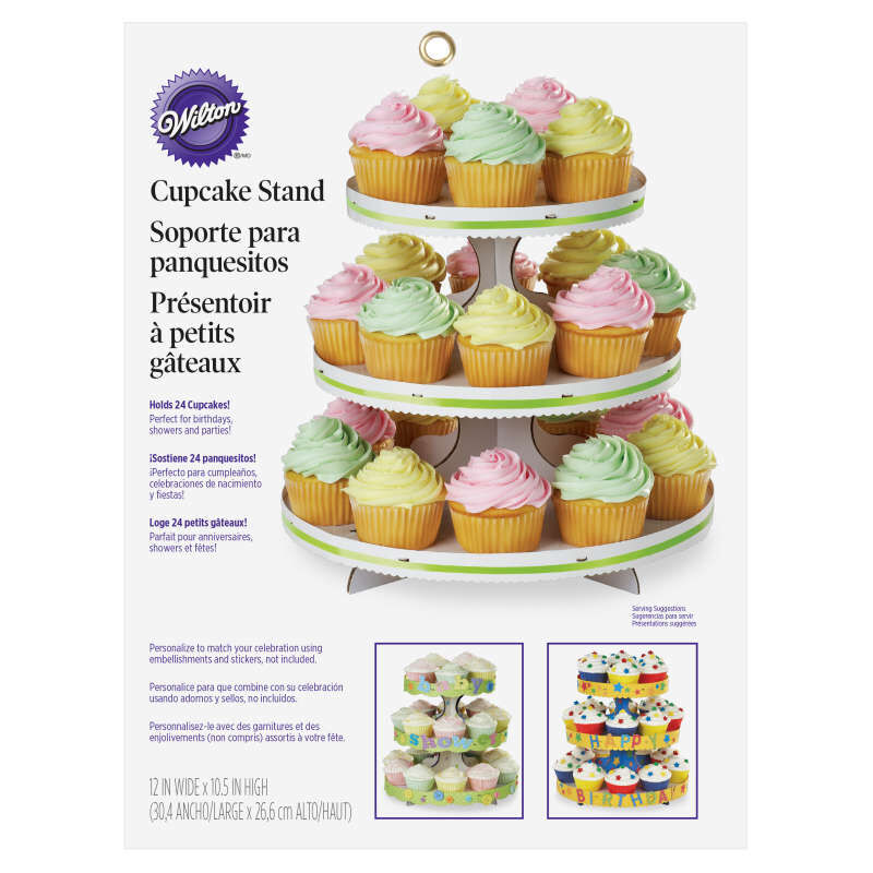 3-Tier Cupcake Stand, White image number 1