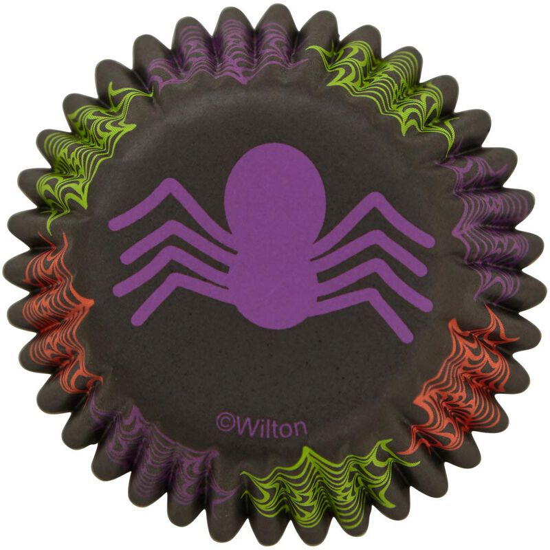 Spider Mini Cupcake Liners, 100-Count image number 0