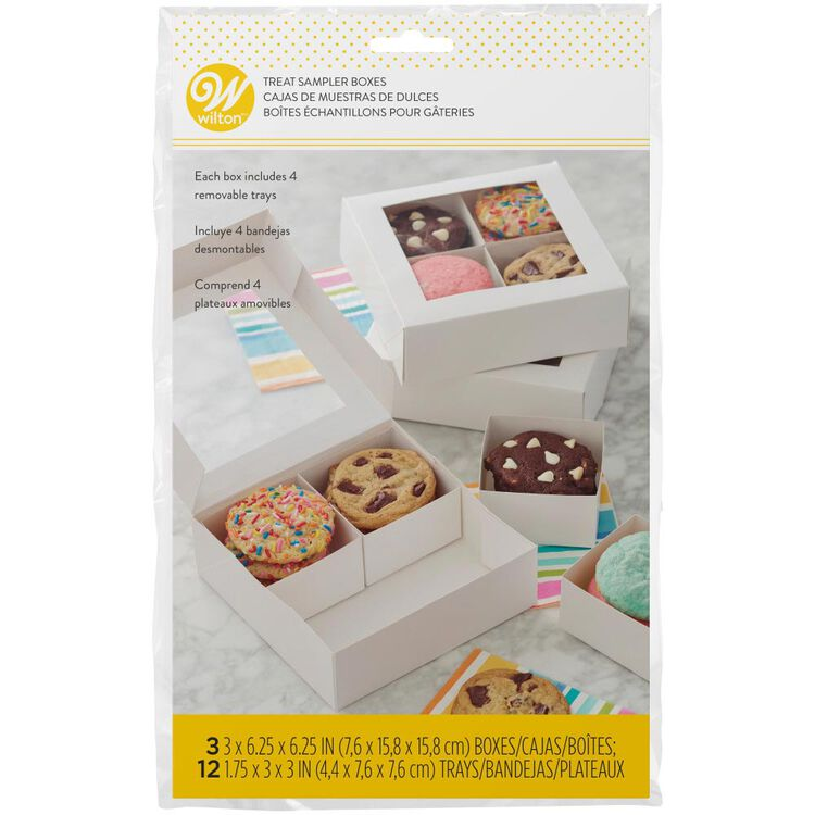 4-Cavity Treat Sampler Boxes, 3-Count