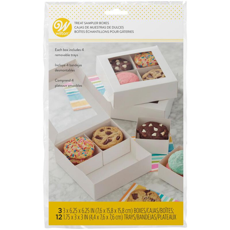 4-Cavity Treat Sampler Boxes, 3-Count image number 1