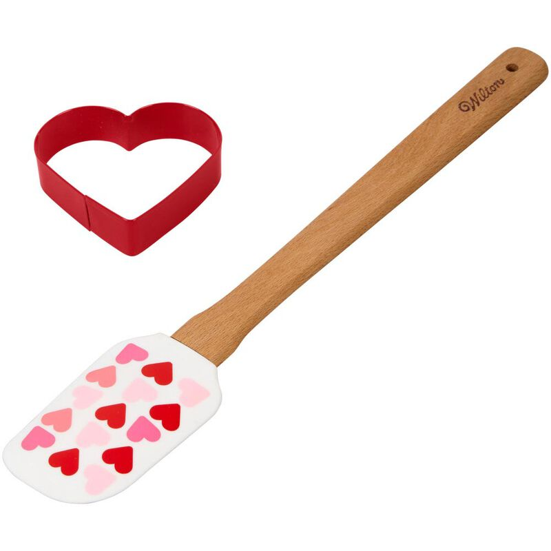 Valentine's Day Heart Spatula and Cookie Cutter Set, 2-Piece image number 2