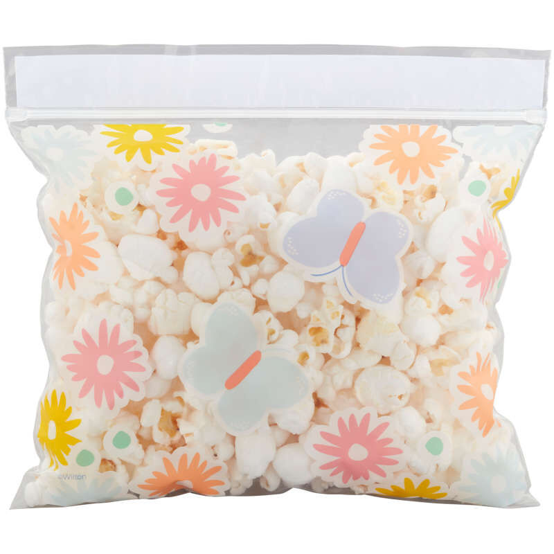 Flowers and Butterflies Resealable Treat Bags, 20-Count image number 2