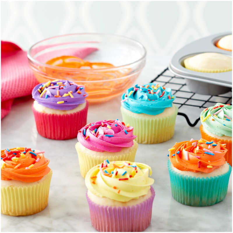Pastel Rainbow Cupcake Liners, 150-Count image number 3