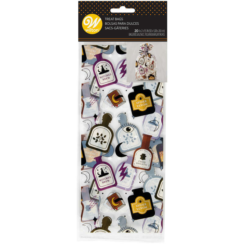 Spells and Potions Halloween Treat Bags, 20-Count image number 1