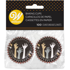 Halloween Not Dead Yet Mini Zombie Cupcake Liners, 100-Count