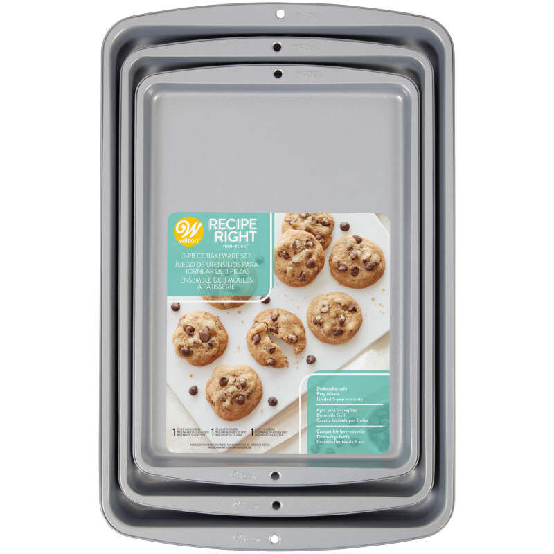 Recipe Right Non-Stick Cookie Sheet Set, 3-Piece image number 1