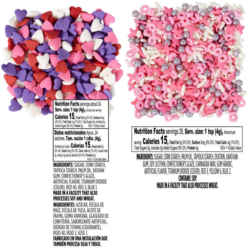 Valentine's Day Sprinkles Nutrition Facts image number 2