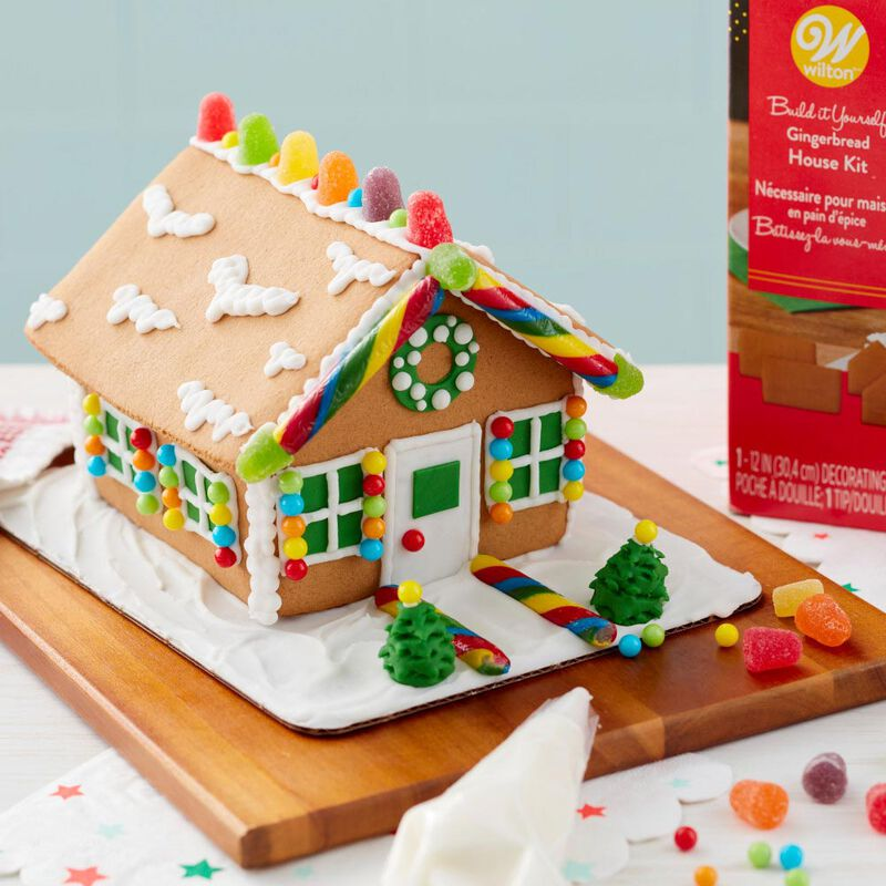 Ready to Decorate Full of Cheer Gingerbread House Decorating Kit image number 3