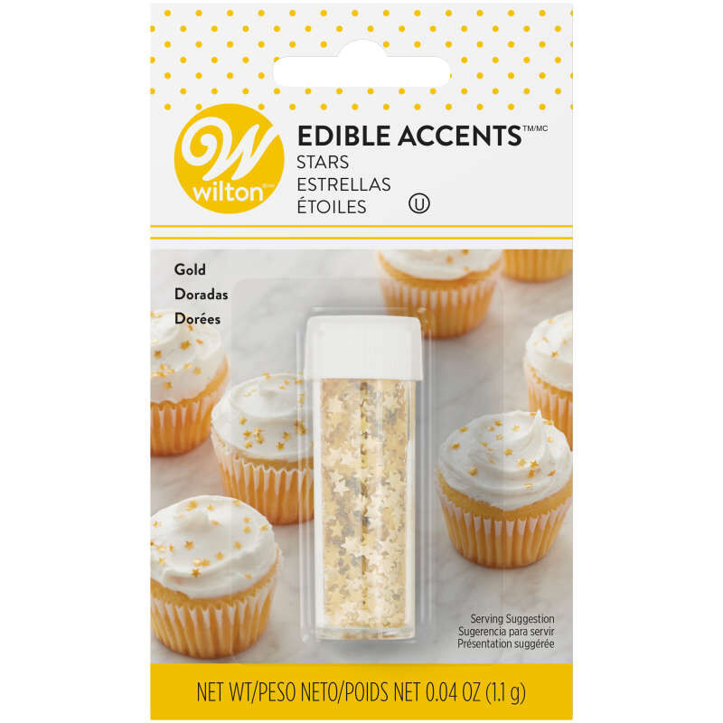 Edible Glitter Gold Stars, 0.4 oz. image number 0