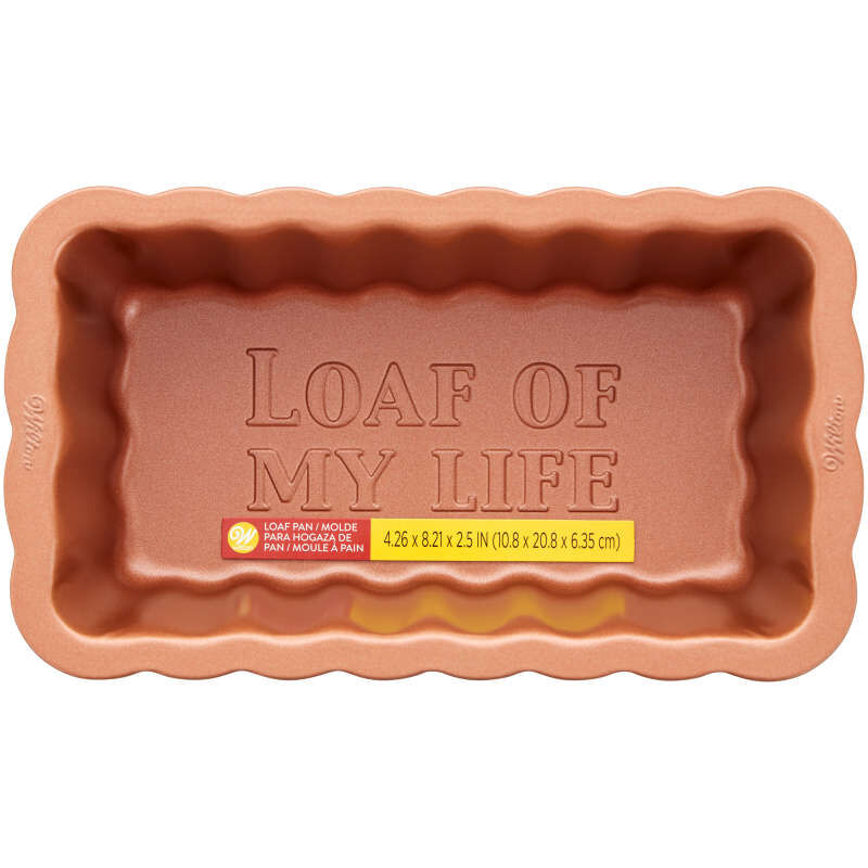 8-Inch Copper Scalloped Loaf Pan image number 0