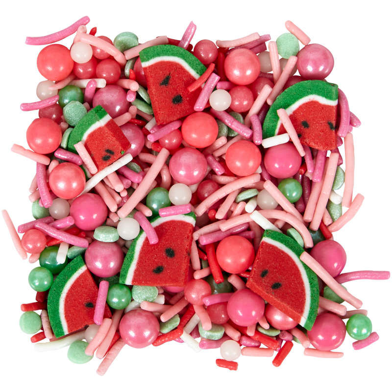 Pink Watermelon Shaped Sprinkles Mix, 10 oz. image number 1