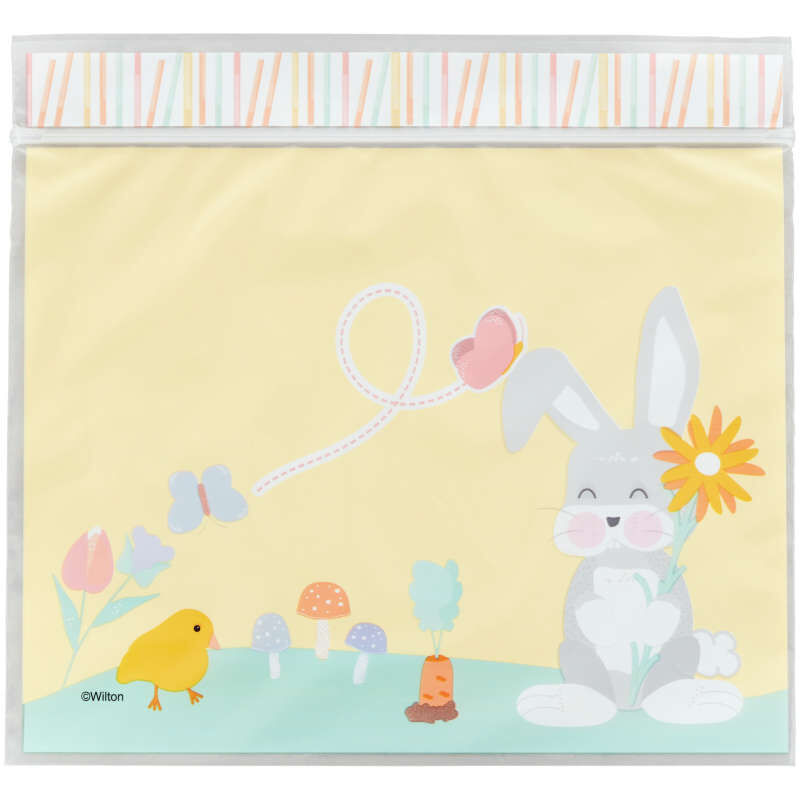 Easter Bunny Resealable Treat Bags, 20-Count image number 1
