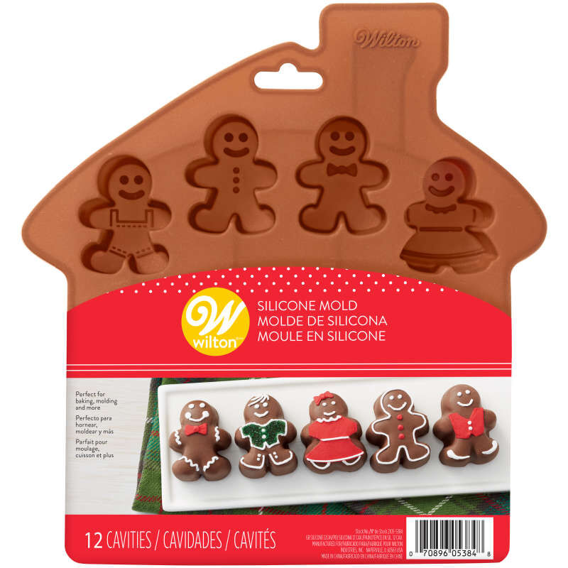 Silicone Gingerbread People Bite-Size Treat Mold, 12-Cavity image number 1