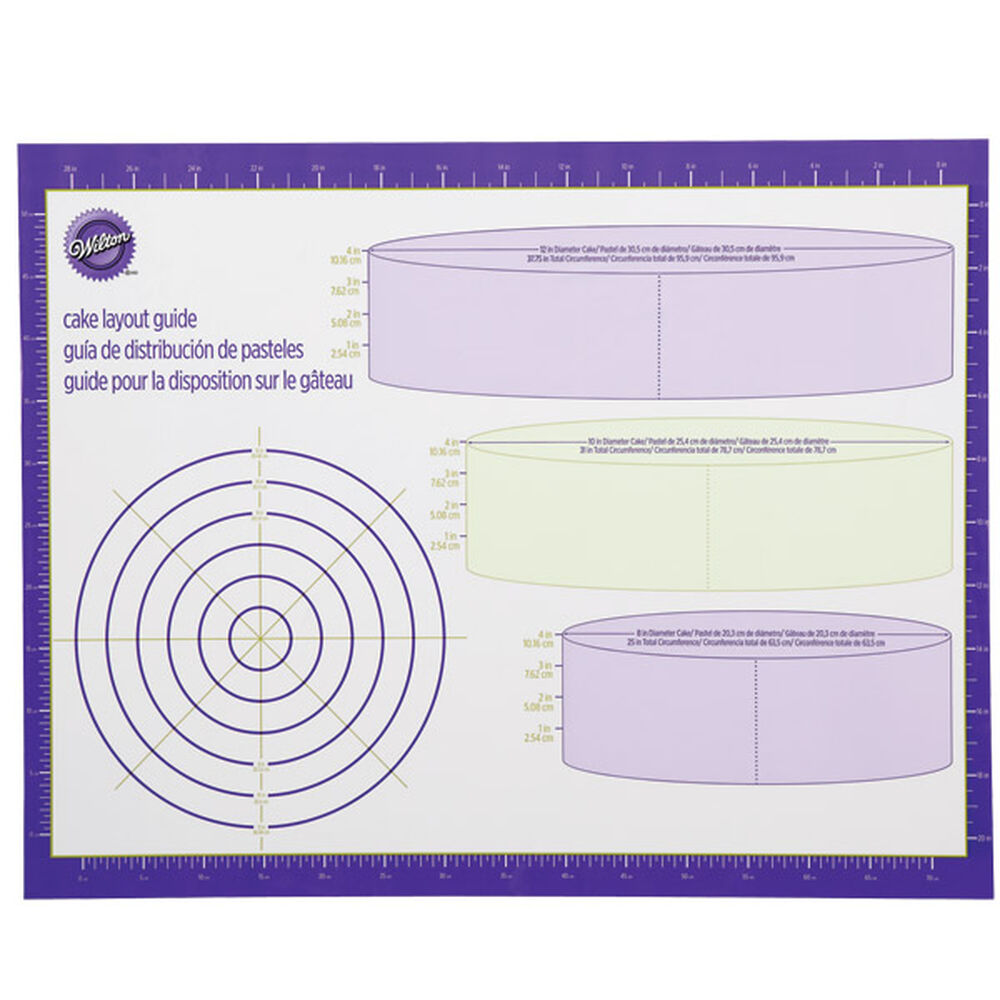 Cake Layout Guide Wilton Piping Techniques