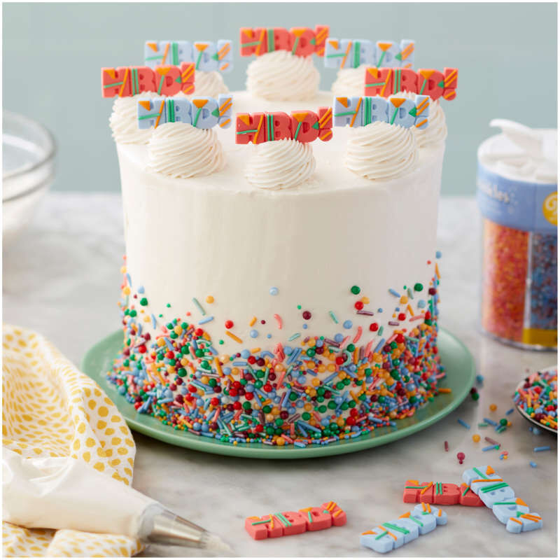 HBD! Icing Decorations, 12-Count image number 3