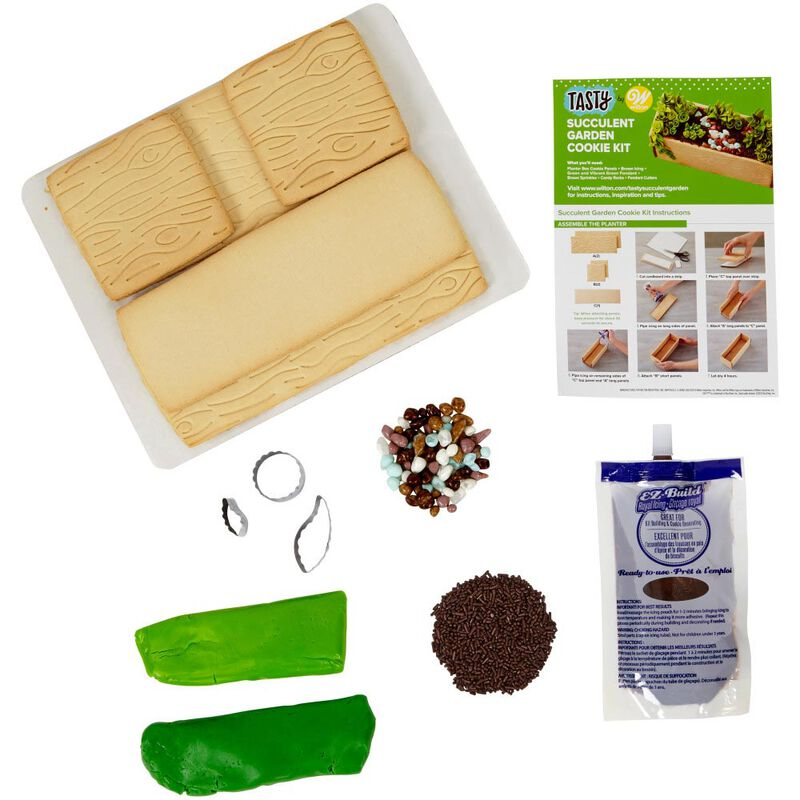 Tasty by Fondant Succulent Garden Cookie Kit image number 1