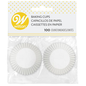 Mini White Cupcake Liners, 100CT