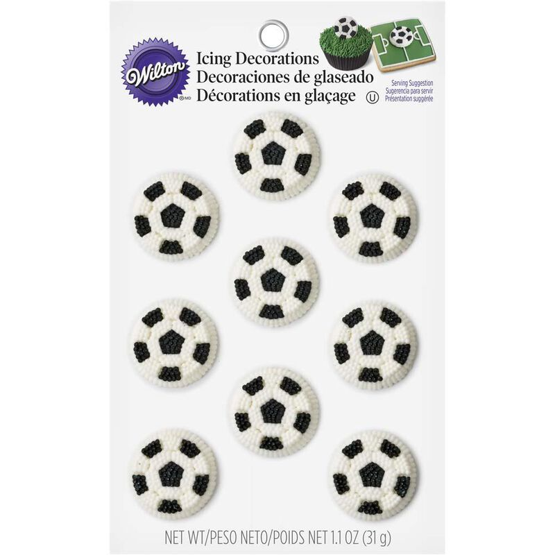 Wilton Soccer Ball Candy Decorations image number 0