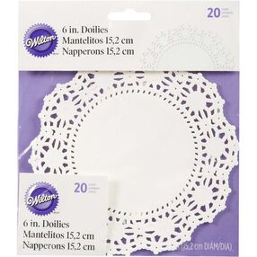 "6"" Round Grease-Proof White Doilies"