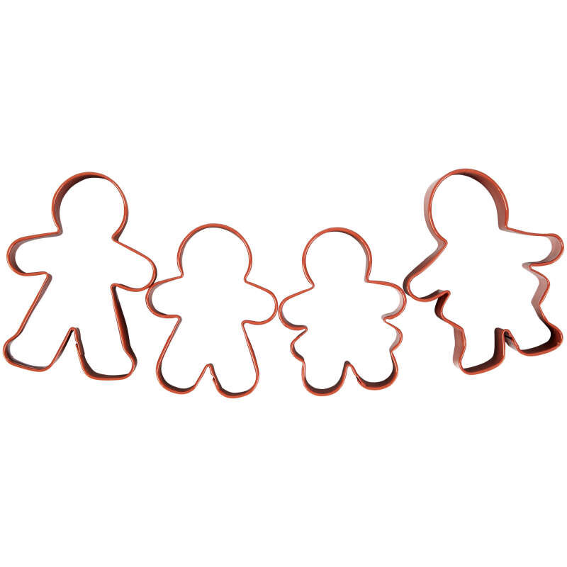 Gingerbread Family Cookie Cutter Set, 4-Piece image number 0