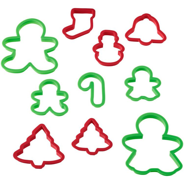 Holiday Cookie Cutter Set, 10-Piece