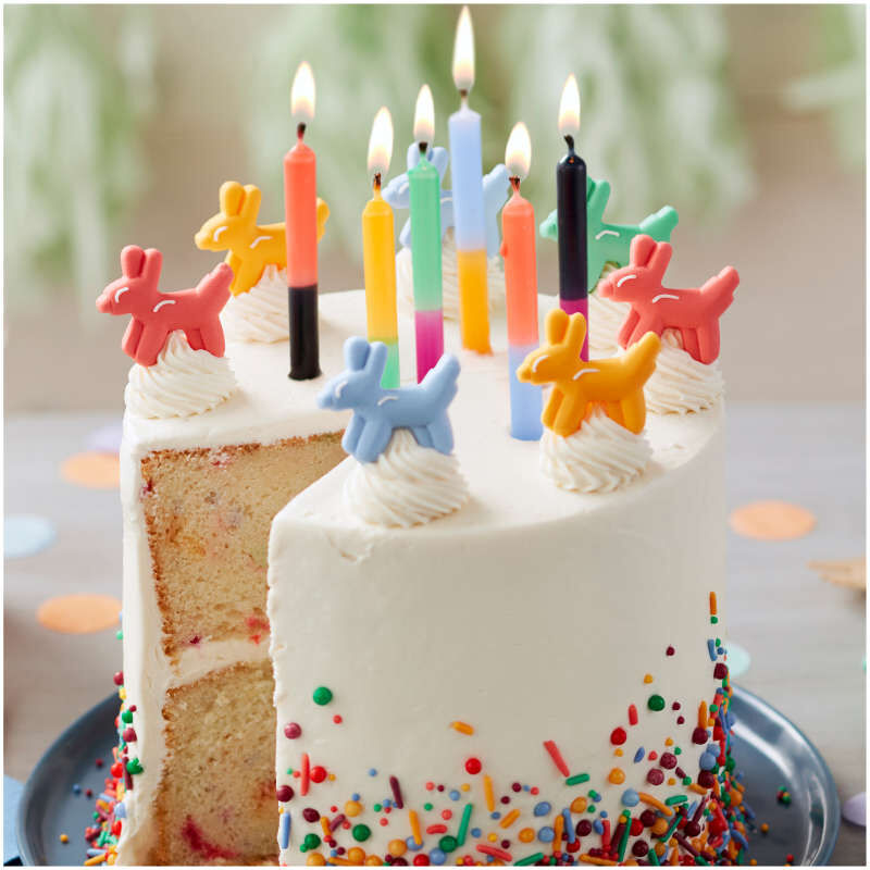 Bold Color Block Birthday Candles, 12-Count image number 2