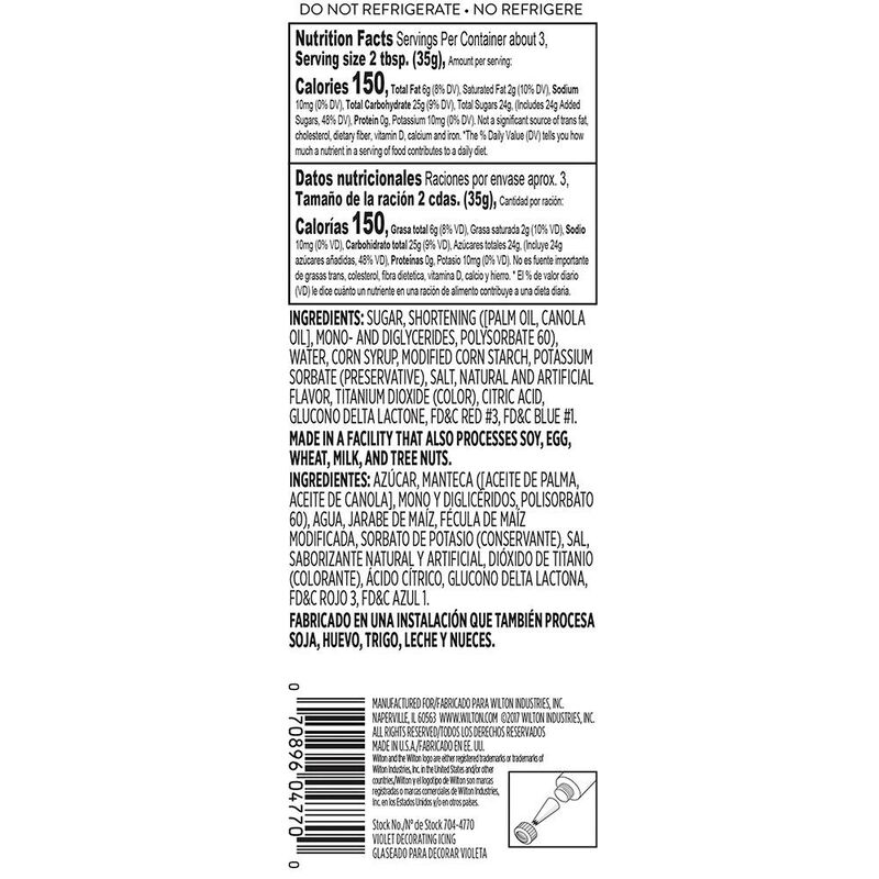 Violet Ready-to-Use Icing Tube, 4.25 oz. image number 1
