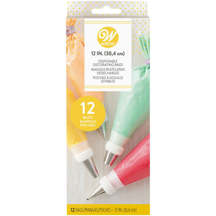 12-Inch Disposable Decorating Piping Bags, 12-Count