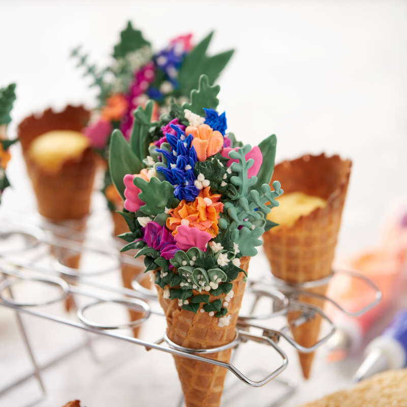 Cupcake Cones Baking Rack, 12-Cavity Ice Cream Cone Cupcakes Holder image number 4