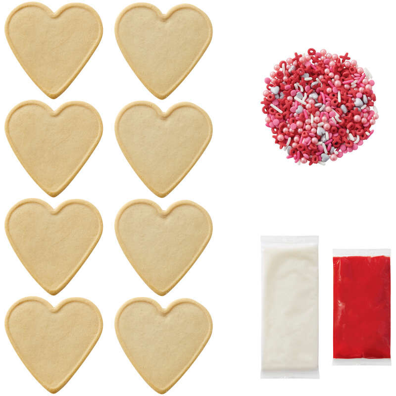 Ready-to-Decorate Heart Cookie Kit image number 2