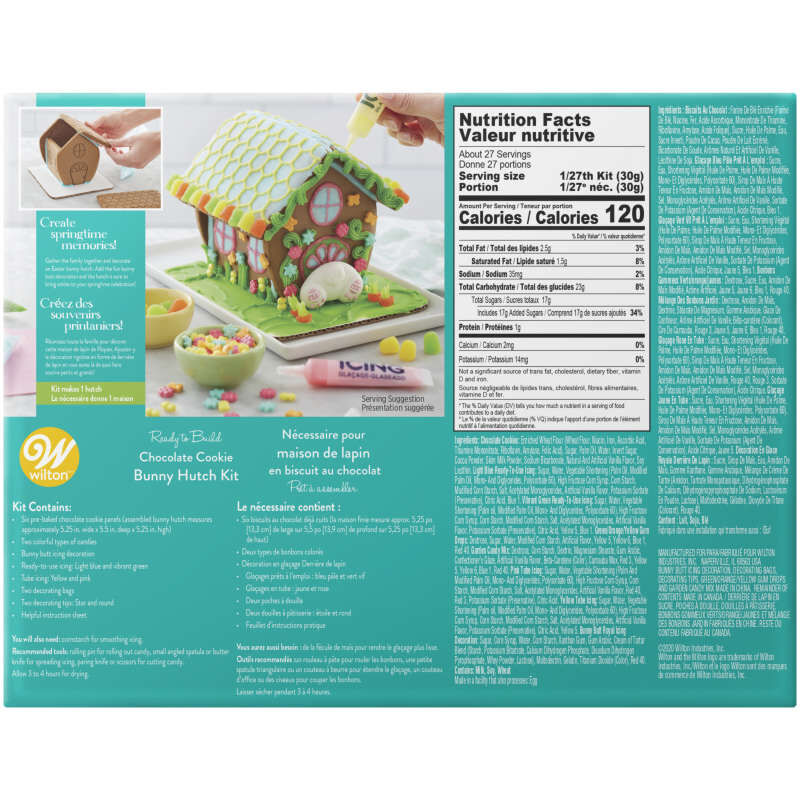 Ready-to-Build Chocolate Cookie Bunny Hutch Kit image number 2