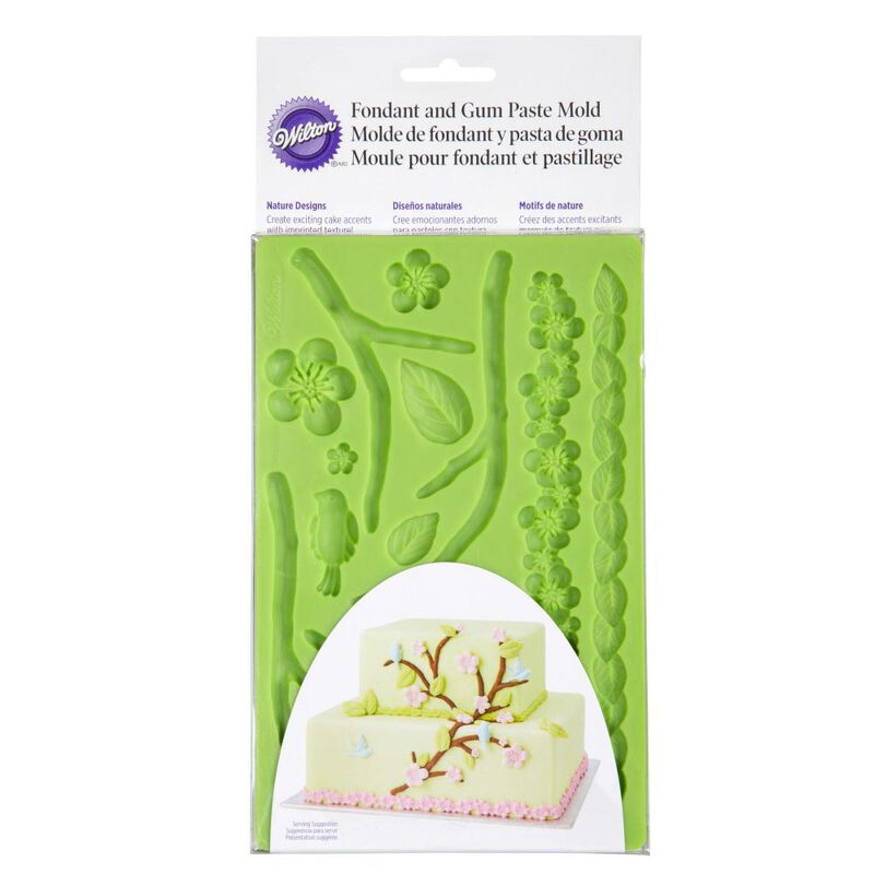 Silicone Nature Designs Fondant and Gum Paste Mold - Cake Decorating Supplies image number 0