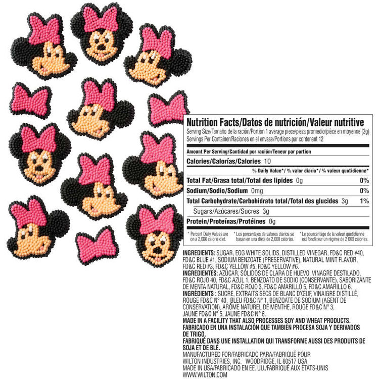 Minnie Mouse Candy Decorations Nutrition Facts