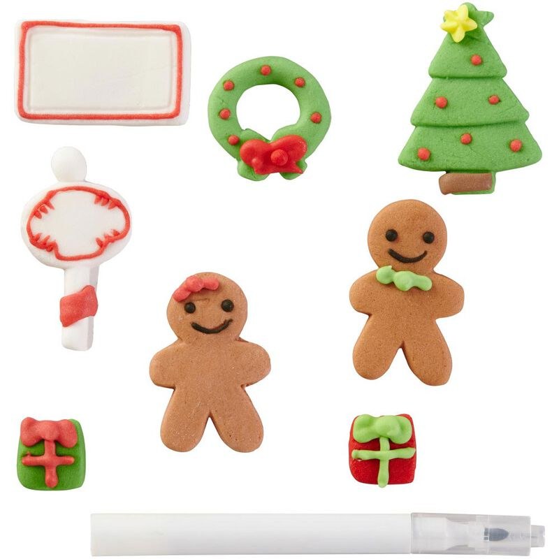 Customizable Gingerbread House Icing Decorations, 12-Count image number 0
