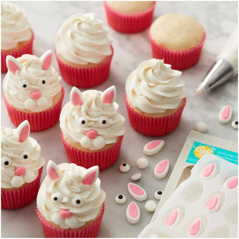 Easter Bunny Face Icing Decorations Kit image number 3