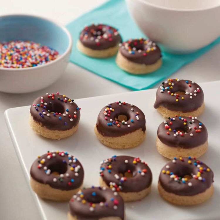 Chocolate Mini Cake Donuts