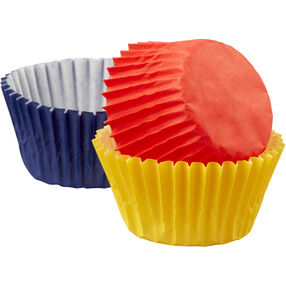Assorted Primary Colors Mini Cupcake Liners