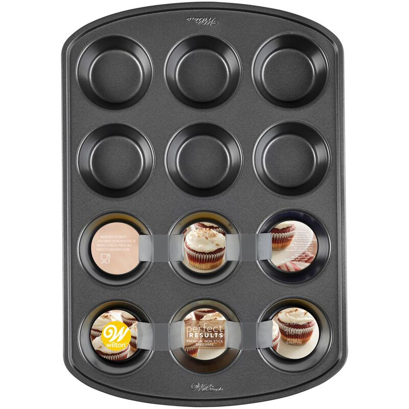 Perfect Results Premium Non-Stick Bakeware Muffin and Cupcake Pan, 12-Cup image number 1