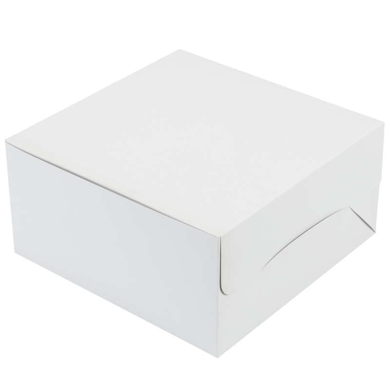 White Cardboard Cake Box, 10-Inch image number 0