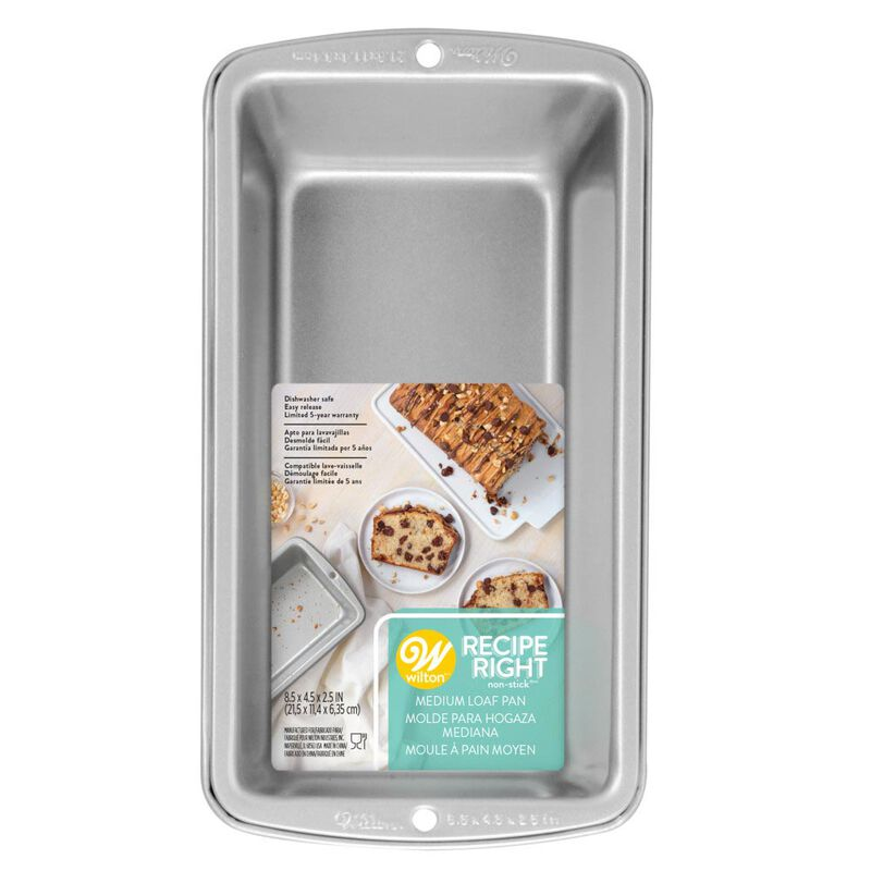 Recipe Right Medium Loaf Pan, 8.5 x 4.5-Inch image number 1