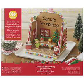 Build-it-Yourself Santa's Workshop Gingerbread Scene Decorating Kit