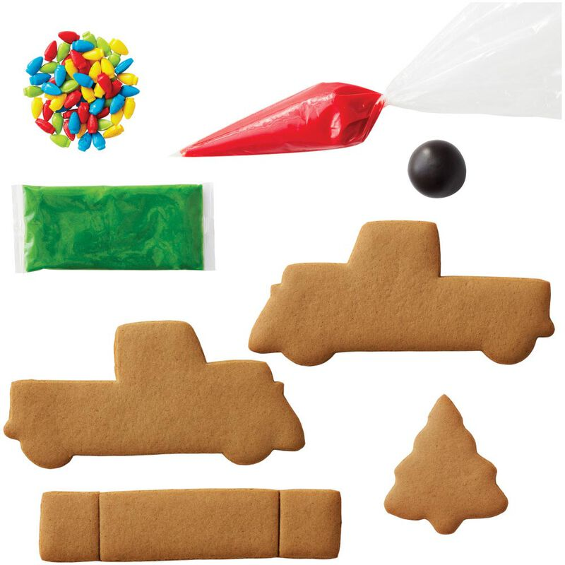 Build it Yourself Gingerbread Pickup Truck Decorating Kit image number 2