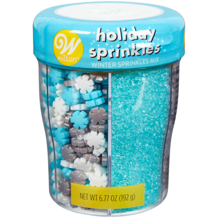 6-Cell Silver and Blue Holiday Sprinkles, 6.77 oz.