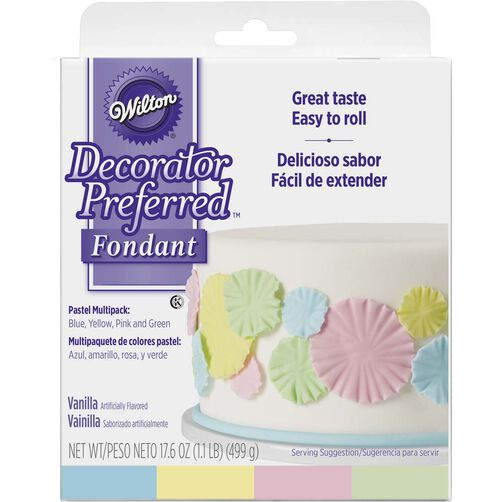 Decorator Preferred Pastel Colors Fondant