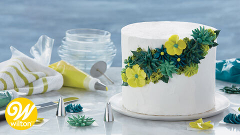 How to Pipe Simple Icing Flowers Kit
