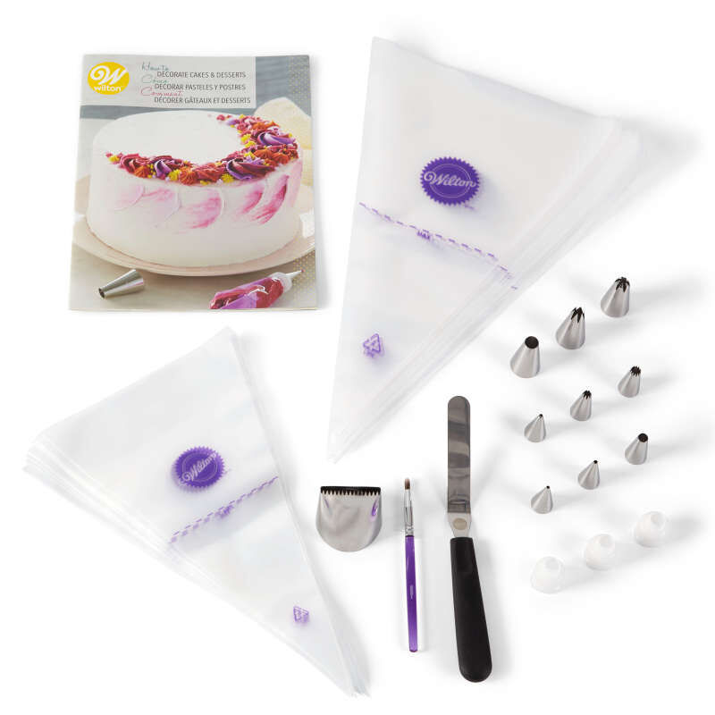 How to Decorate Cakes and Desserts Kit, 39-Piece image number 0