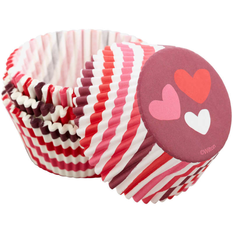 Stripes and Hearts Cupcake Liners, 75-Count image number 3
