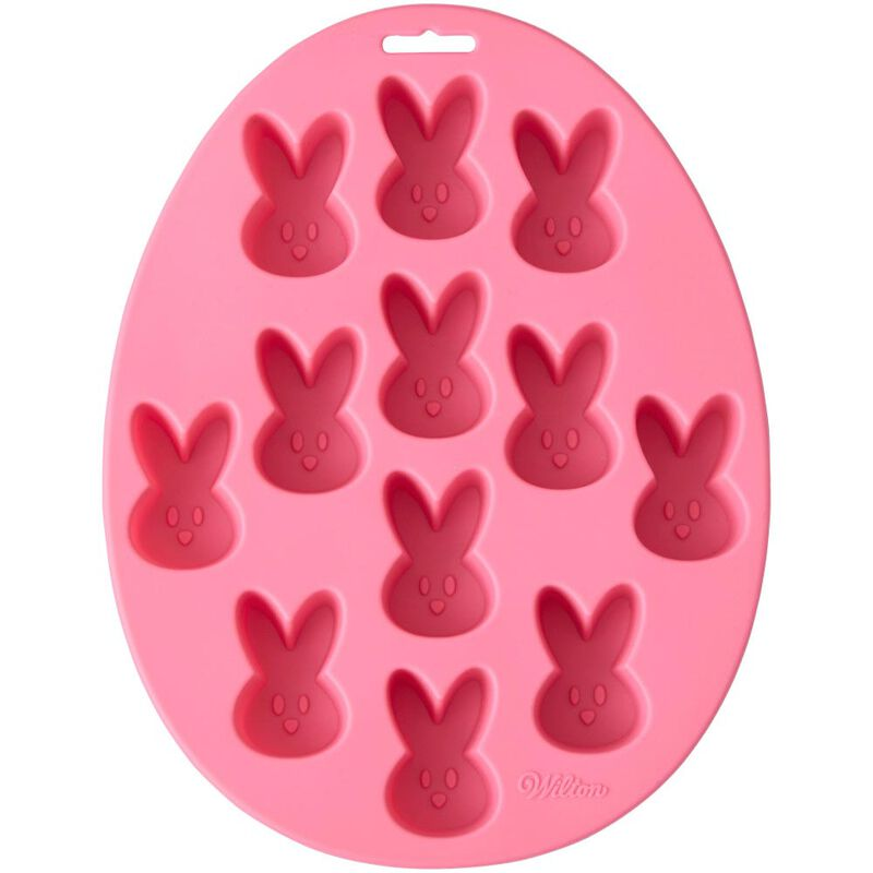Easter Bunny Silicone Treat Mold, 12-Cavity image number 0