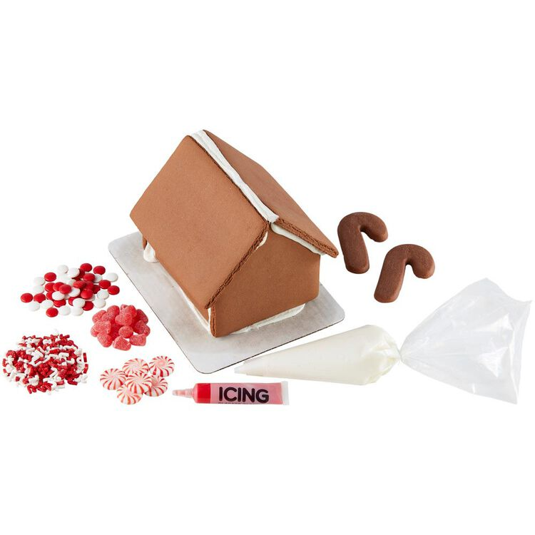 Ready to Decorate Chocolate Cookie House Decorating Kit