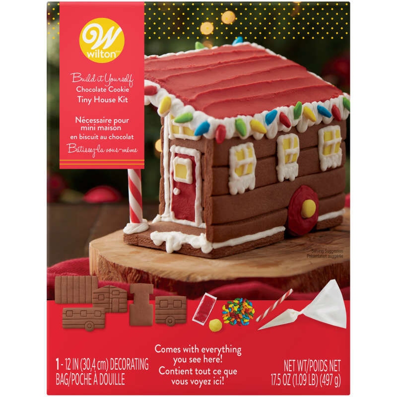 Build it Yourself Room to Grow Chocolate Cookie Tiny House Decorating Kit image number 0